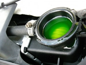 Coolant Fluid green